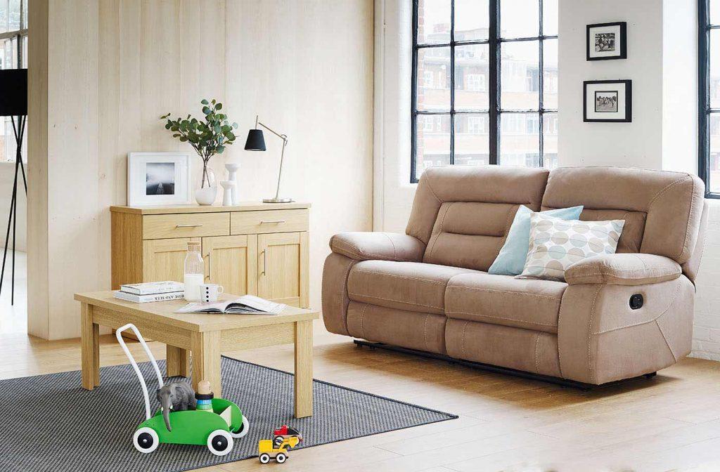 unreclined sofa
