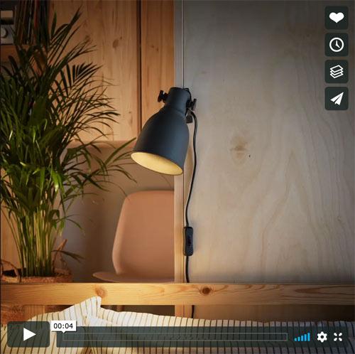 Ikea lamp video